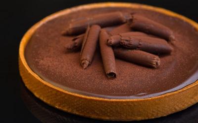 Шоколадный тарт с бобами Тонка