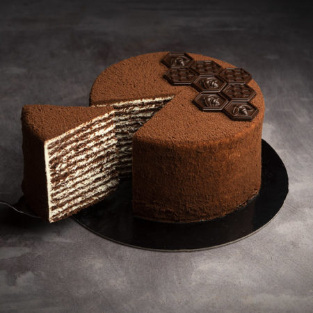 Classic chocolate honey cake