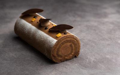 Chocolate-orange cake roll
