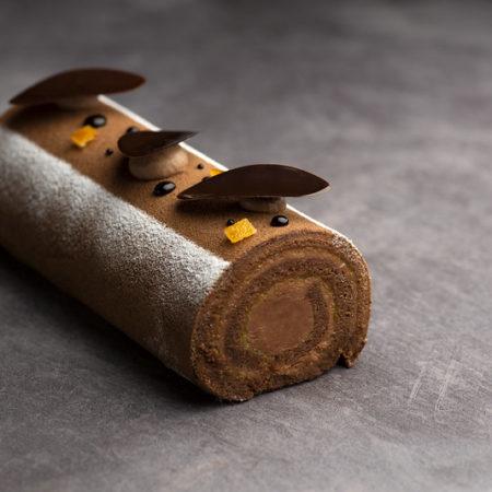 Chocolate orange cake roll