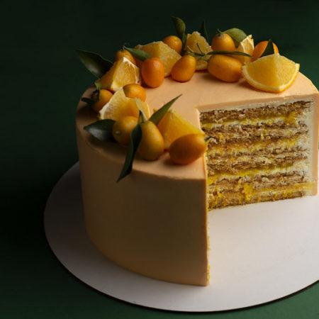 Апельсиновый медовик от Маруси Манько