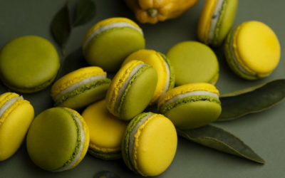 Lime, estragon and olive oil macaron