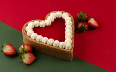 Strawberry Heart Backed Cheesecake