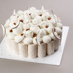 Coconut Caramel and Lime Cake
