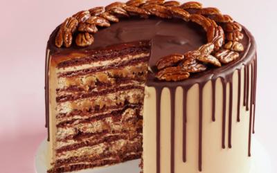 Сoffee, Toffee and Pecan Honey Cake