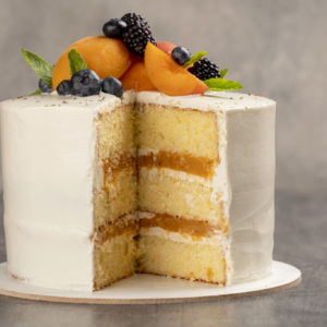 Gluten, Lactose and Sugar Free Apricot and Cottage Cheese cake